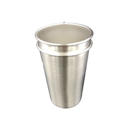 Mug foods online shopping - Food Grade Single wall Stainless Steel Portable Rolled Edge Wine Tumbler Cup OZ Pint Cup Beer Coffee Mug