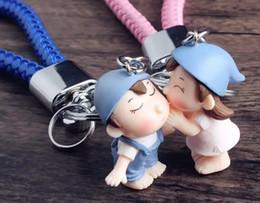 China Korean Cute Love Doll Key Chain Pendant Creative Cartoon 3D Doll Car Key Chain Female Gift suppliers