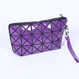 $enCountryForm.capitalKeyWord Canada - Geometric Laser Zipper Cosmetic Bag Women Luxury Makeup Bag Ladies Cosmetics Organizer Folding Travel Make Up Bag Cosmetic Organizer CNY673