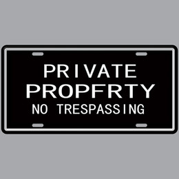$enCountryForm.capitalKeyWord Australia - No Trespassing Private of Property Hot 3D Emboss Retro License Plates Vintage Tin Sign Art Wall Plaque decor Home Metal Painting Bar Pub