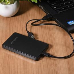 2.5 USB 3.0 HDD Case Hard Drive Pilote 3To SATA Boîtier externe Disque Noir Idéal pour Office Works pour disque dur