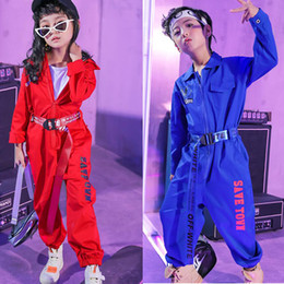 $enCountryForm.capitalKeyWord NZ - Girls Jazz Modern Dancing Costumes Clothing Suits Kids Children's Hip Hop Dance wear Outfits Stage Costumes Coverall Clothes