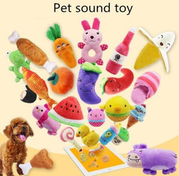 $enCountryForm.capitalKeyWord Australia - Soft Plush Dog Chew Toys Series Dog Fruit Vegetables Carrot Duck Puppy Squeak Chew Teething Toys Teeth Cleaning Pet Palying Toys For Dogs