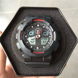 Discount g shock black red watch - New G Style Digital Military Wristwatches Shock Resist Auto Light Waterproof Date Calendar LED Mens Designer watches Goo