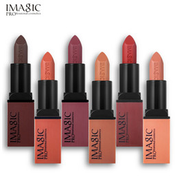 Hot rebel online shopping - IMAGIC Creme Dnude Soft Blankety Born Brave Pink Ruby Woo Red Rebel Plum Sin Deep Lipstick Hot Sexy Colors Lip Paint set