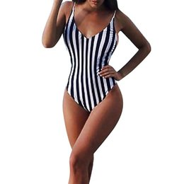 Bikinis Set Women Boho Stripes Halter Push Up Bandeau Bikini Set Two Piece Swimsuits Stroj Kapielowy Tankini Fatos De Banho Maillot De Bain Sports & Entertainment