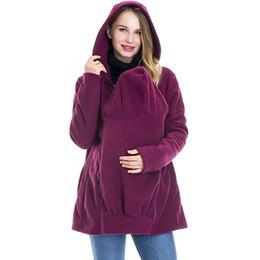 def5181c005e9 Winter Autumn Fall Infant Baby Carrier Jacket Kangaroo Warm Maternity  Hoodies Outerwear Coat For Pregnant Women Mum Femme