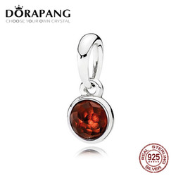 d6f3547f8 DORAPANG 100% 925 Sterling Silver January Droplet Pendant Garnet Pendant  Charms Bead For Mother Gift Bracelet DIY