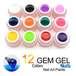 Discount nail art prices 2018 nail art prices on sale at dhgate 40267 12 colors a set gem gel transparent texture 3d moonlight gel 8ml uvled soak off nail art gel factory price prinsesfo Choice Image