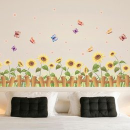 $enCountryForm.capitalKeyWord NZ - Creative Children Room Bedroom Cartoon Decorative Painting Cute Wallpaper Home Decor Cozy Golden Sun Flower Wall Stickers Easy To Use 2 5pc