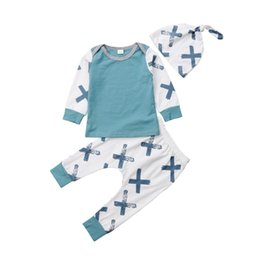 $enCountryForm.capitalKeyWord Australia - 0-24M Newborn Kid Baby Boy Girl Cotton Clothes set Long Sleeve Top t-shirt and pants leggings plain Outfits costume