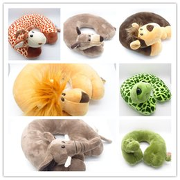 car travel sleep pillow NZ - Travel Pillow Cartoon Neck Pillows Cute Animal U Shape Neck Cushion For Airplane Car Office Travel Sleep Pillow Cushion