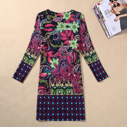 $enCountryForm.capitalKeyWord Australia - European Dress Classic Printing Autumn Clothing Long Sleeve Will Code Suit-dress Of Large Number Goods In Stock