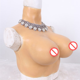 Crossdresser breast form online shopping - G cup Artifiaicl Fake Breasts Realistic Silicone Breast Forms For Dragqueen Transgender Shemale Crossdresser Sissyboy Chest Push Up