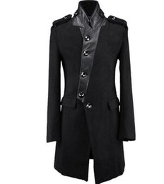$enCountryForm.capitalKeyWord UK - XS-6XL 2018 Men clothing BIGBANG GD Fashion British medium long stitching wollen coat Plus size singer Costumes