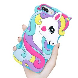 $enCountryForm.capitalKeyWord UK - Hot New Unicorn Cute Cartoon Animals Soft Rubber Silicone Shockproof Drop Protection Kawaii Bumper Case Cover For iPhone 5 6 7 8 X XS Max XR
