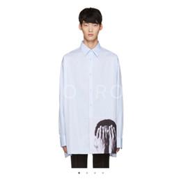 China Raf Simons Shirt Catwalk Show Cloth Men Women Fashion Oversized Long Sleeve Turn-down Collar Shirt HFLSCS007 suppliers