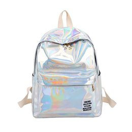 $enCountryForm.capitalKeyWord UK - THINKTHENDO Women Hologram Laser PVC Backpacks Shoulder School Bags for Teenage Girls Female Small Leather Holographic Bags