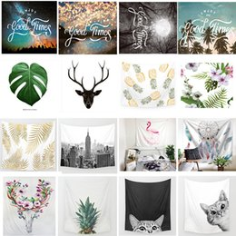 China New 150*130CM Polyster Wall Hanging Blankets 70 Styles Flamingo Elephant Beach Towel Tablecloth Background Tapestry Mandala Home Decor suppliers