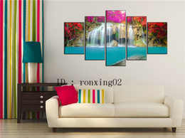 waterfalls paintings hd NZ - Waterfall -1,5 Pieces Home Decor HD Printed Modern Art Painting on Canvas (Unframed Framed)