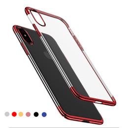 $enCountryForm.capitalKeyWord Australia - Crystal Clear Tpu Phone Case for iPhone X 8plus 7 Luxury Ultra-thin Plating carcasa de telefono For Samsung Huawei Mate10 pro Soft Shell