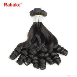 funmi hair bundles 2019 - Funmi Boucy Egg Curls Cuticle Aligned 10A Human Hair Weave Bundles Rabake Raw Indian Aunty Bouncy Romance Curly Double W