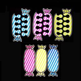 toe nail polish art 2019 - 25 Pairs = 50pcs Candy Nail Art Soft EVA Sponge Finger Toe Separators Dividers UV Gel Polish Pedicure Manicure Tools #27
