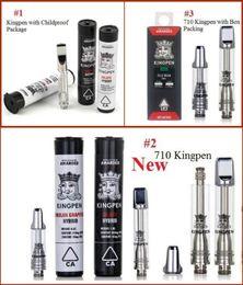 Good atomizer online shopping - Good quality Kingpen Cartridges ml ml Pyrex Glass Tank Ceramic Coil Vape Thick Oil Cartridge Atomizer With Flavor Stickers