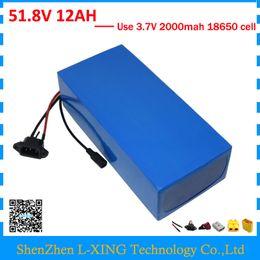 Batterie de lithium 52V 12AH batterie de vélo électrique 52V ebike batterie au lithium 500V 750W 51.8V 12AH avec chargeur 2A en Solde