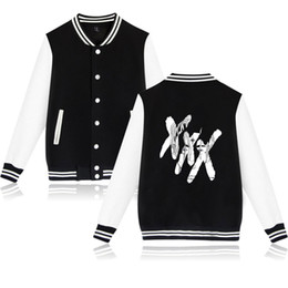 Chinese  Mens XXXTentacion Baseball Jackets Autumn Winter Male Printed Long Sleeeve Panelled Coats Man Outerwear Free Shipping manufacturers