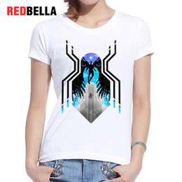 animation figures 2019 - Women's Tee Redbella Cool Remeras Mujer Verano 2017 Usa Animation Comic Figure Funny Lovely Drawing Women T-shirt P