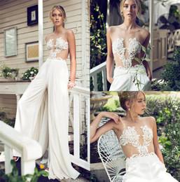 $enCountryForm.capitalKeyWord NZ - Riki Dalal 2018 Modest A Line Wedding Dress Jumpsuit With Removable Skirt Lace Applique Bridal Gowns Custom Made Wedding Dress