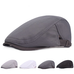 c6b6fbb9bf3 Discount drivers hats - HT1754 New Summer Berets for Men Breathable Mesh  Flat Cap Cabbie Driver
