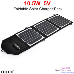 outdoor solar panels Canada - New 10.5W 5V Flexible Foldable Power Bank Solar Pack Portable USB Solar Charger outdoor Sunpower Best Solar Panel for 5V Device