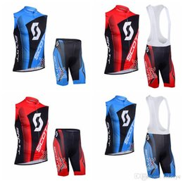 $enCountryForm.capitalKeyWord NZ - SCOTT team Cycling Sleeveless jersey Vest (bib)shorts sets Breathable Racing Bicycle Cycling Clothing ropa ciclismo F0210