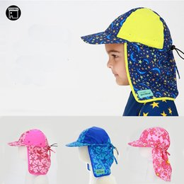 026ebd99b6f USEEMALL Kids Children Outdoor Beach Sun Hat Neck Ear Cover UPF 50+ UV  Protection Ear Protection Swimming Cap 1-8Y High Quality