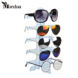 a632663c53 Portable 5 Pairs Plastic Sunglasses Showing Rack Holder Frame 5 Layer Clear Glasses  jewelry Display Stand
