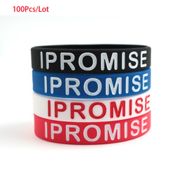 wristbands james bracelet NZ - 100pcs lot LeBron James I Promise Wristband Basketball I Promise Silicone Bracelet Rubber Unisex Sports outfit