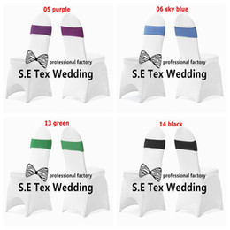 $enCountryForm.capitalKeyWord Canada - 50pcs White Banquet Chair Cover For Wedding And 50pcs Strech Lycra Spandex Chair Band \ Chair Sash Free Shipping