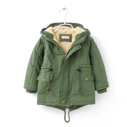 Parkas Green Australia - 2018 New winter children down & parkas 2-8Y European style boys girls warm outerwear color green blue hooded coats for girls