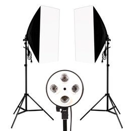 $enCountryForm.capitalKeyWord UK - Photography Photo Studio Lighting Kit 2PCS*4 Socket Lamp Holder +2PCS* 50*70CM Softbox +2PCS*2m Light Stand Photo Soft Box