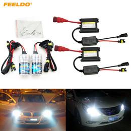 Hid Car Bulbs Canada - FEELDO Xenon HID Kit H1 H3 H7 H8 H10 H11 9005 9006 DC 12V 35W Xenon Bulb Lamp Digital Ballast Car Headlight #4470