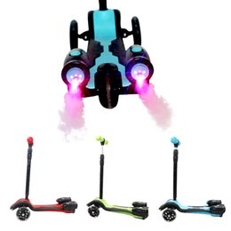 $enCountryForm.capitalKeyWord NZ - Child Scooter 3 Wheels New Patinete infantil Water Somking Electric Battery Rocket Sound Light rubber air wheels youngsters toy