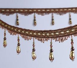 $enCountryForm.capitalKeyWord UK - 12Meter Crystal ball Bead Tassel Pendant Hanging Lace Trim Ribbon For Window curtains wedding Party Decorate Apparel Sewing DIY