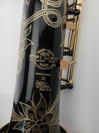 Haute Qualité SELMER 802 Saxophone Soprano Professionnel B Plat En Laiton Nickel Noir Or Perle Boutons Sax Avec Bec, Cas