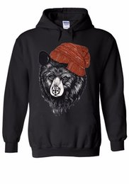 China Bear With Beanie Hipster Cool Funny Men Women Unisex Top Hoodie Sweatshirt 606 suppliers