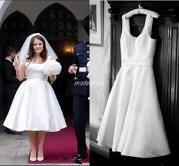 $enCountryForm.capitalKeyWord NZ - 2019 Short Plus Size Wedding Dresses Scoop Backless Knee Length Garden Beach Country Bridal Gowns Maxi robe de mariée
