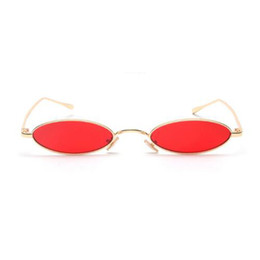 901a31534d Small Oval Sunglasses For Women Men Male Retro Metal Frame Yellow Red Lens Shade  Vintage Round Sun Glasses Eyewear UV400