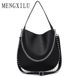 918ca5fee4 red rock bags 2019 - MENGXILU 2018 Chains Women s Handbags High Quality Leather  Bag Ladies Big