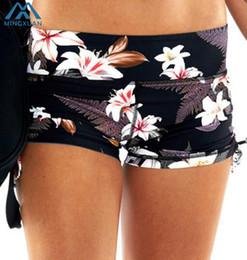 $enCountryForm.capitalKeyWord NZ - 2018 New Low Waist Shorts Tight Elastic Floral Skinny Elastic Waist Printing Frenulum Bodybuilding Shorts